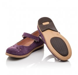 Детские туфли Bebbini фиолетовые для девочек натуральный нубук размер 24-24 (3015) Фото 2