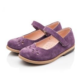 Детские туфли Bebbini фиолетовые для девочек натуральный нубук размер 24-30 (3015) Фото 3