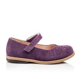 Детские туфли Bebbini фиолетовые для девочек натуральный нубук размер 24-24 (3015) Фото 4