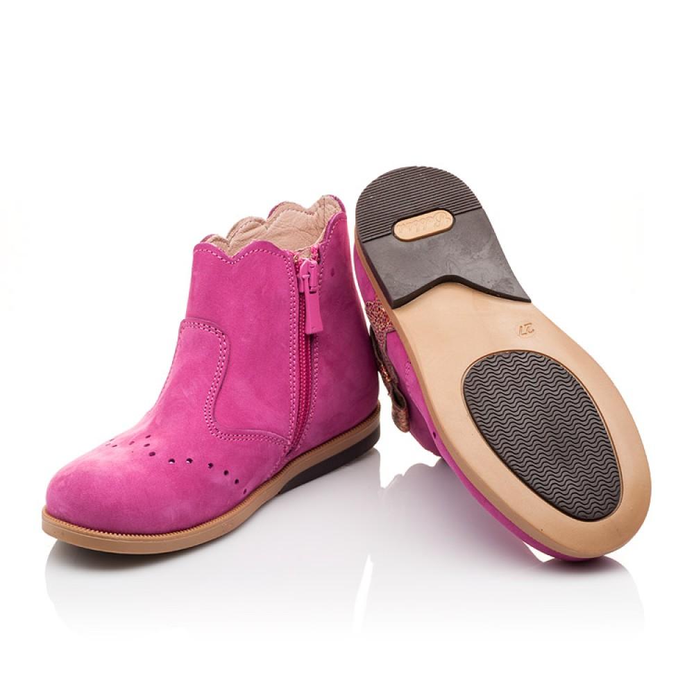 Детские демисезонные ботинки (подкладка кожа) Bebbini розовые для девочек натуральный нубук размер 21-30 (3016) Фото 2