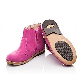 Детские демисезонные ботинки (подкладка кожа) Bebbini розовые для девочек натуральный нубук размер 21-24 (3016) Фото 2