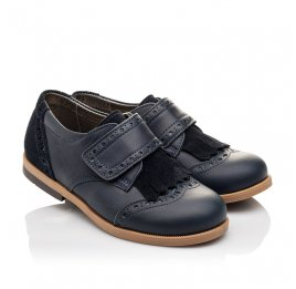 Детские туфли Bebbini синие для девочек натуральная кожа размер 22-29 (3020) Фото 1