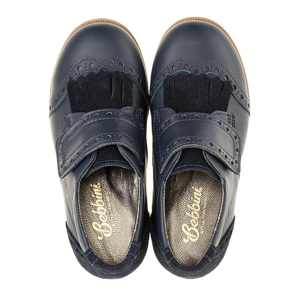 Детские туфли Bebbini синие для девочек натуральная кожа размер 22-30 (3020) Фото 5