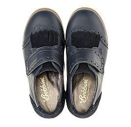 Детские туфли Bebbini синие для девочек натуральная кожа размер 22-29 (3020) Фото 5