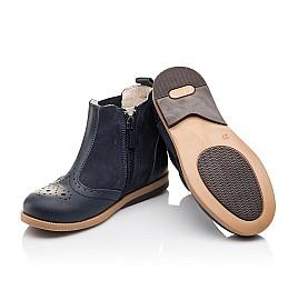 Детские демисезонные ботинки Bebbini темно-синие для девочек натуральная кожа размер 21-22 (3021) Фото 2