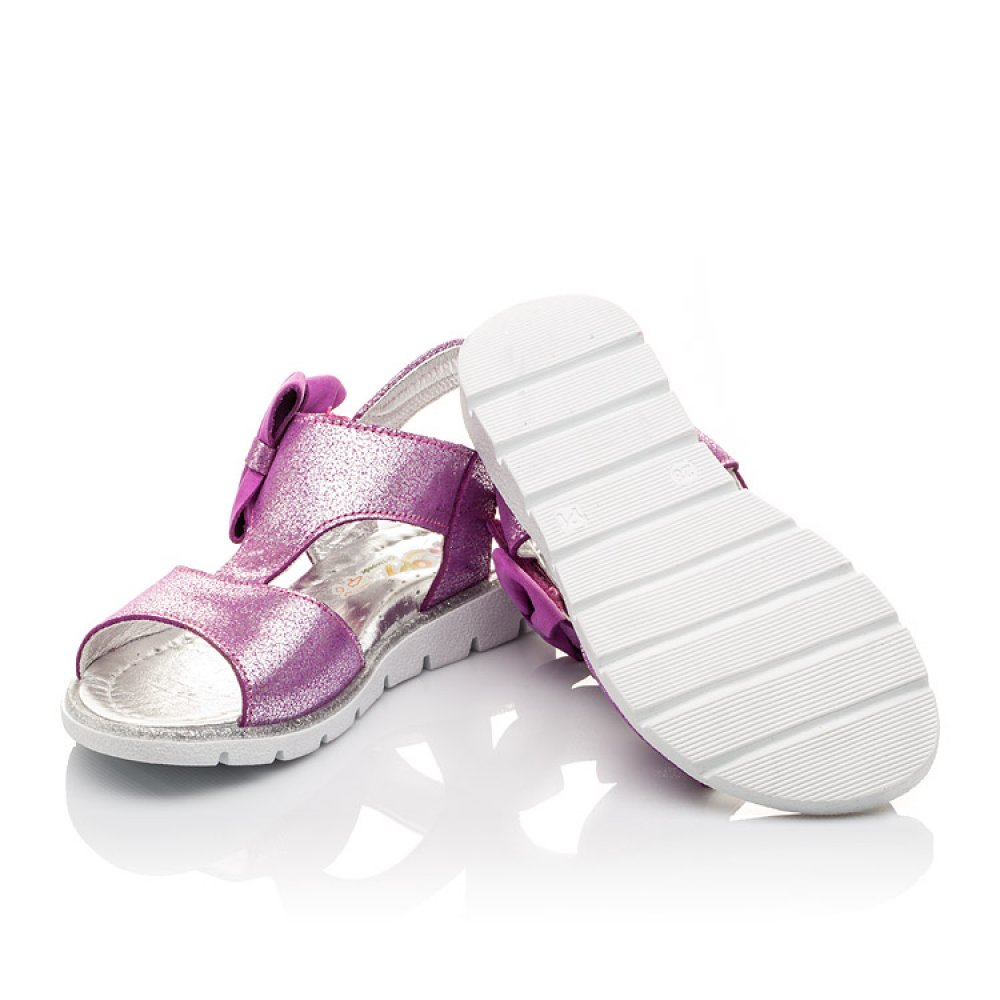 Детские босоножки Woopy Orthopedic фиолетовые для девочек натуральная кожа размер 22-30 (3022) Фото 2