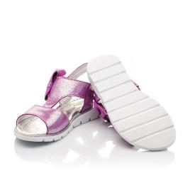 Детские босоножки Woopy Orthopedic фиолетовые для девочек натуральная кожа размер 23-24 (3022) Фото 2