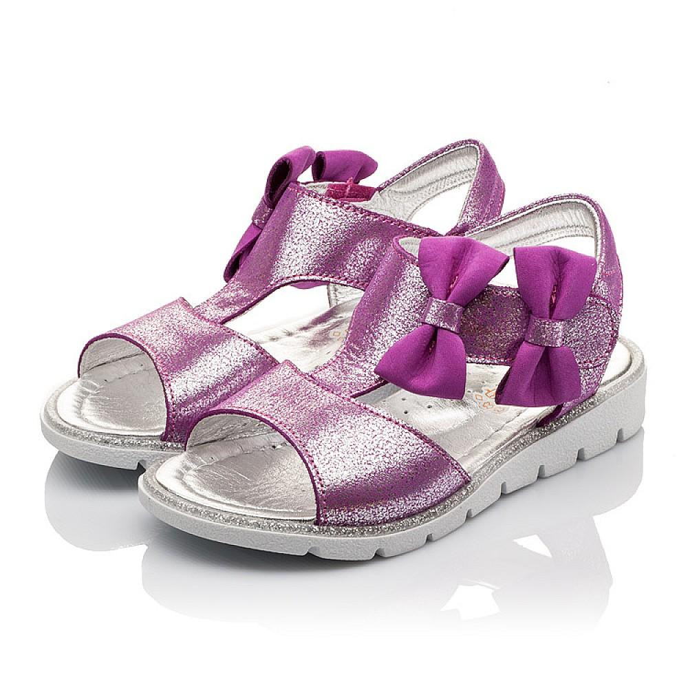 Детские босоножки Woopy Orthopedic фиолетовые для девочек натуральная кожа размер 22-30 (3022) Фото 3