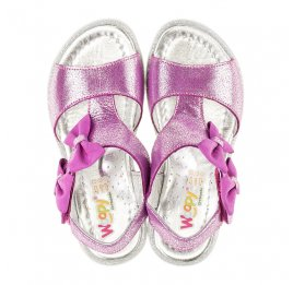 Детские босоножки Woopy Orthopedic фиолетовые для девочек натуральная кожа размер 23-24 (3022) Фото 5