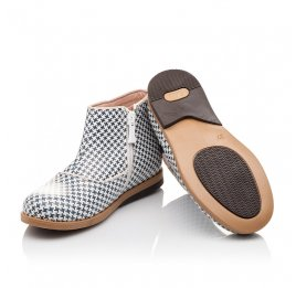 Детские демисезонные ботинки Bebbini разноцветные для девочек натуральная кожа размер 21-27 (3025) Фото 2