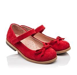 Детские туфли Bebbini красные для девочек натуральная замша размер 21-21 (3026) Фото 1