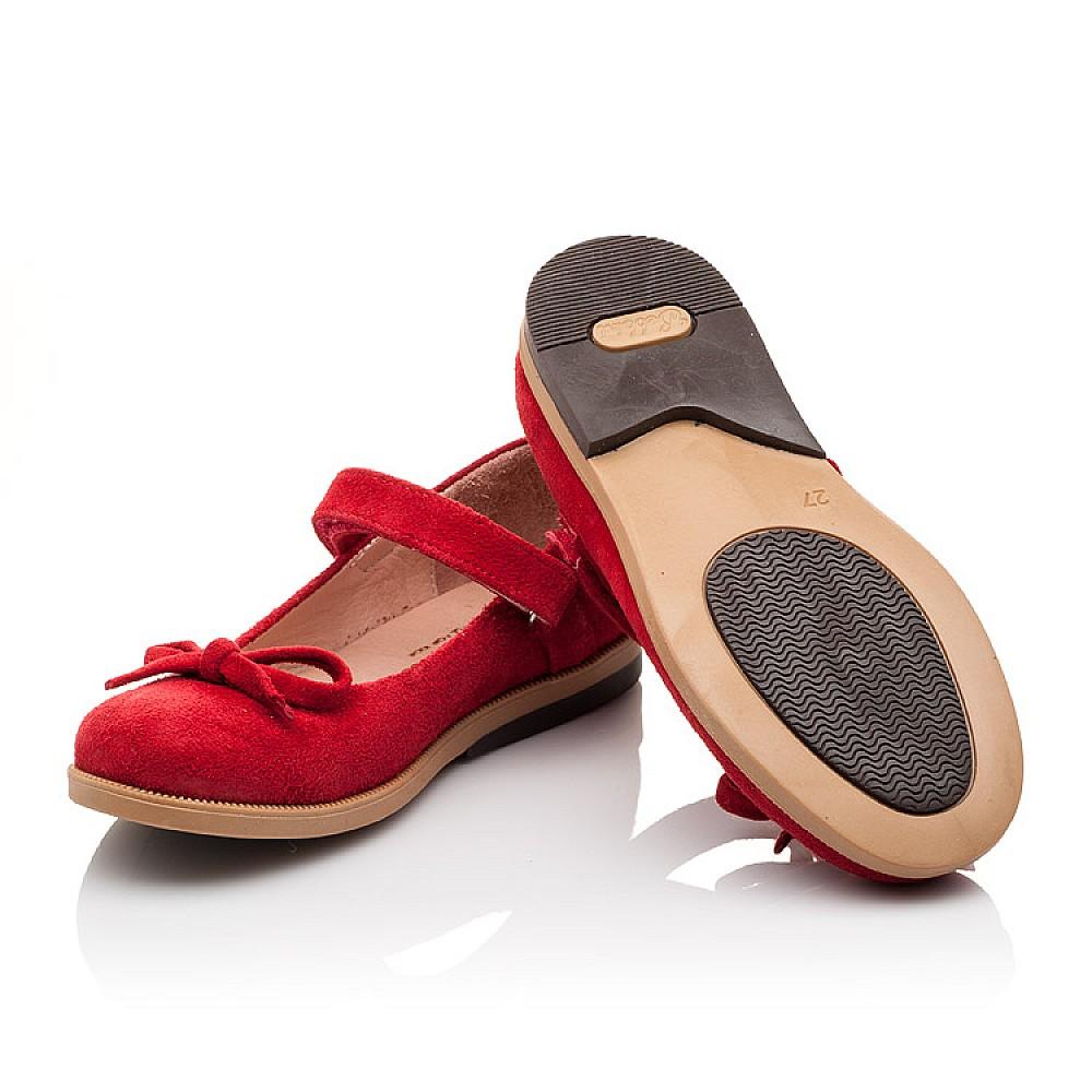 Детские туфли Bebbini красные для девочек натуральная замша размер 21-30 (3026) Фото 2