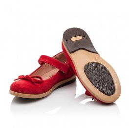 Детские туфли Bebbini красные для девочек натуральная замша размер 21-21 (3026) Фото 2