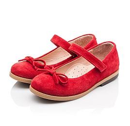 Детские туфли Bebbini красные для девочек натуральная замша размер 21-21 (3026) Фото 3