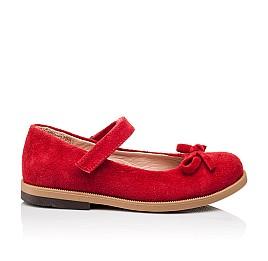 Детские туфли Bebbini красные для девочек натуральная замша размер 21-21 (3026) Фото 4