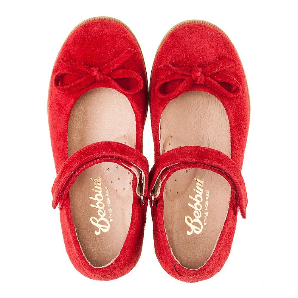 Детские туфли Bebbini красные для девочек натуральная замша размер 21-30 (3026) Фото 5