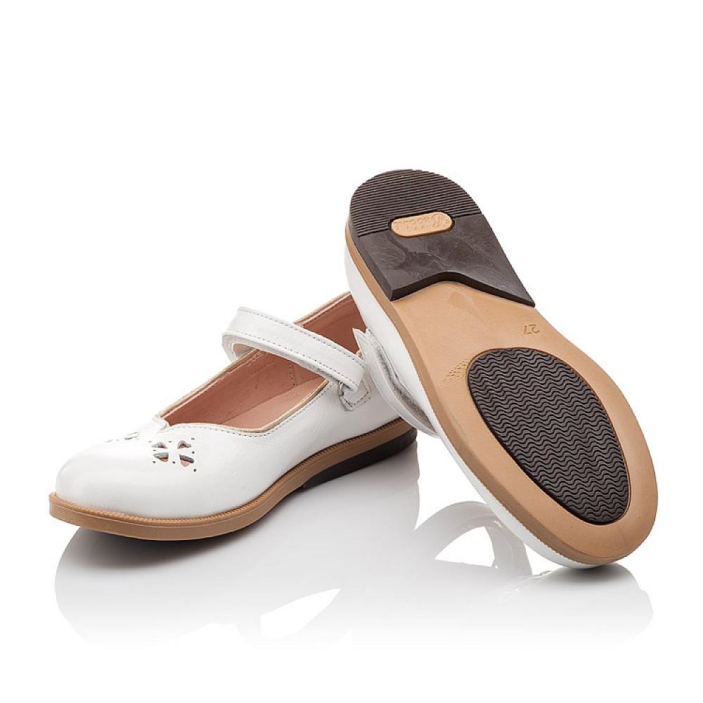 Детские туфли Bebbini белые для девочек натуральная лаковая кожа размер 21-30 (3028) Фото 2