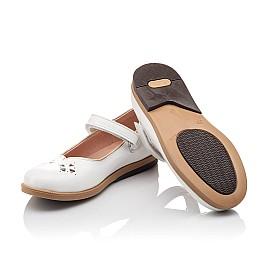 Детские туфли Bebbini белые для девочек натуральная лаковая кожа размер 21-22 (3028) Фото 2