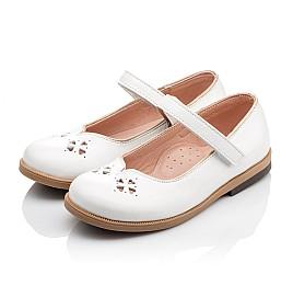Детские туфли Bebbini белые для девочек натуральная лаковая кожа размер 21-22 (3028) Фото 3