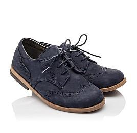 Детские туфли Woopy Orthopedic синие для девочек натуральный нубук размер 22-25 (3029) Фото 1