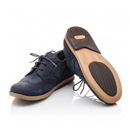 Детские туфли Woopy Orthopedic синие для девочек натуральный нубук размер 22-25 (3029) Фото 2