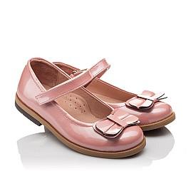 Детские туфли Bebbini розовые для девочек натуральная лаковая кожа размер 24-24 (3030) Фото 1