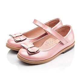 Детские туфли Bebbini розовые для девочек натуральная лаковая кожа размер 24-24 (3030) Фото 3