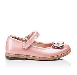 Детские туфли Bebbini розовые для девочек натуральная лаковая кожа размер 24-24 (3030) Фото 4