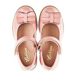Детские туфли Bebbini розовые для девочек натуральная лаковая кожа размер 24-24 (3030) Фото 5