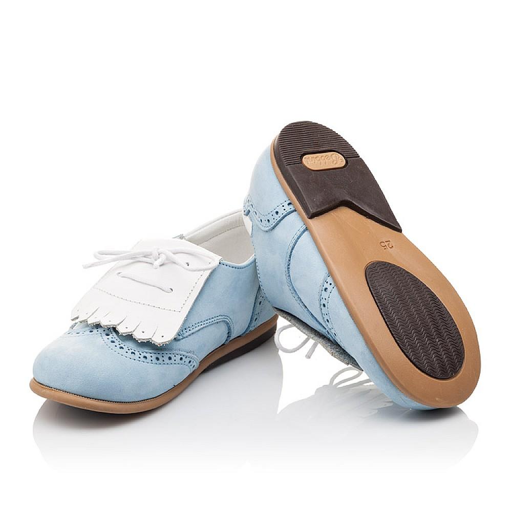 Детские туфли Bebbini голубые для девочек натуральный нубук размер 24-28 (3031) Фото 2