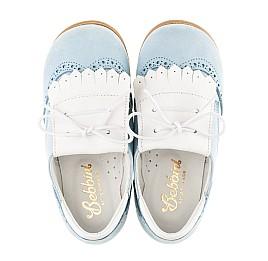 Детские туфли Bebbini голубые для девочек натуральный нубук размер 24-26 (3031) Фото 5