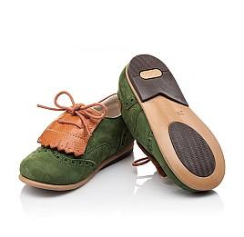 Детские туфли Bebbini зеленые для мальчиков натуральный нубук размер 21-30 (3032) Фото 2