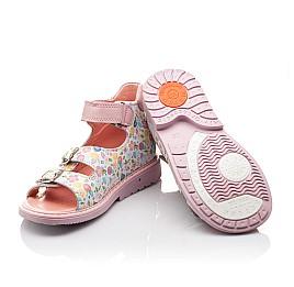 Детские ортопедические босоножки Woopy Orthopedic разноцветные, розовые для девочек натуральная кожа размер - (3034) Фото 2