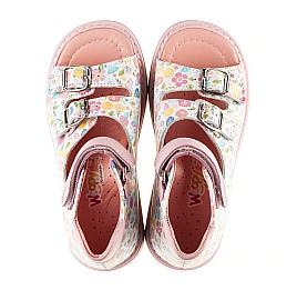 Детские ортопедические босоножки Woopy Orthopedic разноцветные, розовые для девочек натуральная кожа размер - (3034) Фото 5