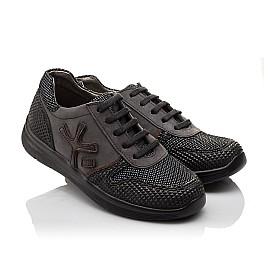 Детские кроссовки (шнурок резинка) Woopy Orthopedic серые, черные для мальчиков натуральная кожа размер 39-39 (3039) Фото 1