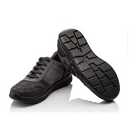 Детские кроссовки (шнурок резинка) Woopy Orthopedic серые, черные для мальчиков натуральная кожа размер 39-39 (3039) Фото 2