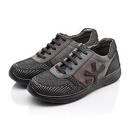 Детские кроссовки (шнурок резинка) Woopy Orthopedic серые, черные для мальчиков натуральная кожа размер 39-39 (3039) Фото 3