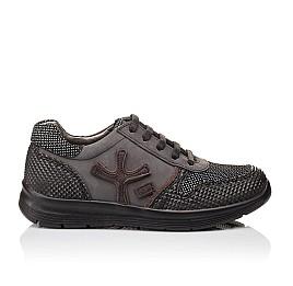 Детские кроссовки (шнурок резинка) Woopy Orthopedic серые, черные для мальчиков натуральная кожа размер 39-39 (3039) Фото 4