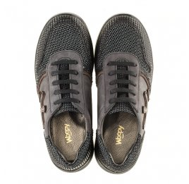 Детские кроссовки (шнурок резинка) Woopy Orthopedic серые, черные для мальчиков натуральная кожа размер 39-39 (3039) Фото 5