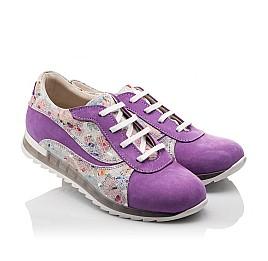 Детские кроссовки (шнурок резинка) Woopy Orthopedic сиреневые, разноцветные для девочек натуральный нубук размер 31-34 (3043) Фото 1