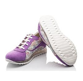 Детские кроссовки (шнурок резинка) Woopy Orthopedic сиреневые, разноцветные для девочек натуральный нубук размер 31-34 (3043) Фото 2