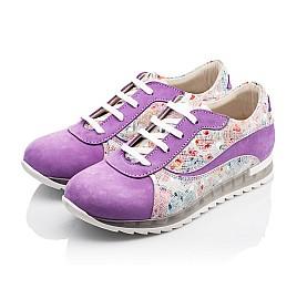 Детские кроссовки (шнурок резинка) Woopy Orthopedic сиреневые, разноцветные для девочек натуральный нубук размер 31-34 (3043) Фото 3