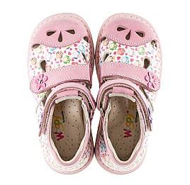 Детские закрытые ортопедические босоножки Woopy Orthopedic розовые для девочек натуральный нубук размер - (3045) Фото 5