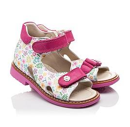 Детские ортопедические босоножки Woopy Orthopedic разноцветные, розовые для девочек натуральная кожа размер - (3055) Фото 1