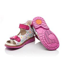 Детские ортопедические босоножки Woopy Orthopedic разноцветные, розовые для девочек натуральная кожа размер - (3055) Фото 2