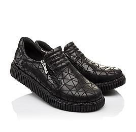 Детские туфли Woopy Orthopedic черные для девочек натуральный нубук размер - (3070) Фото 1