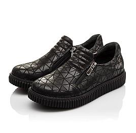 Детские туфли Woopy Orthopedic черные для девочек натуральный нубук размер - (3070) Фото 3