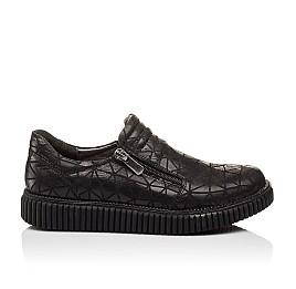 Детские туфли Woopy Orthopedic черные для девочек натуральный нубук размер - (3070) Фото 4