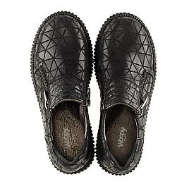 Детские туфли Woopy Orthopedic черные для девочек натуральный нубук размер - (3070) Фото 5