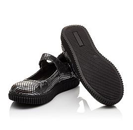 Детские туфли Woopy Orthopedic серебряные для девочек натуральная кожа размер - (3071) Фото 2